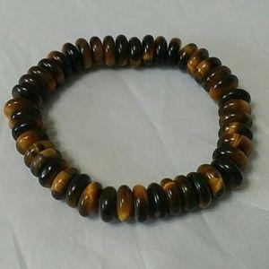 Golden Brown Tiger Eye Stretch Bracelet